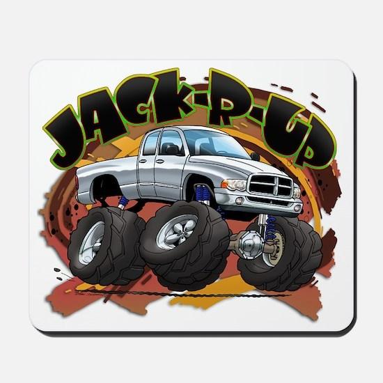 White Jack-R-Up Ram Mousepad