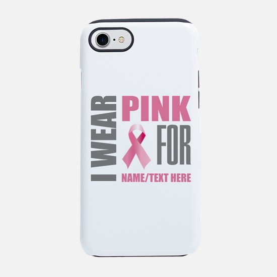 Pink Awareness Ribbon Customiz iPhone 7 Tough Case
