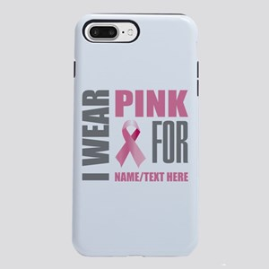 Pink Awareness Ribbon Cus iPhone 7 Plus Tough Case