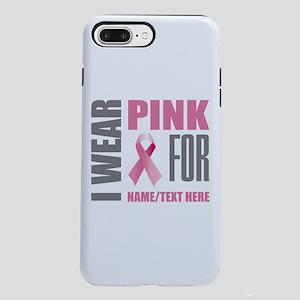 Pink Awareness Ribbon Cus iPhone 7 Plus Tough Case