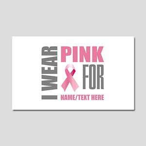 Pink Awareness Ribbon Customize Car Magnet 20 x 12