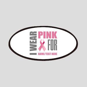 Pink Awareness Ribbon Customized Patch