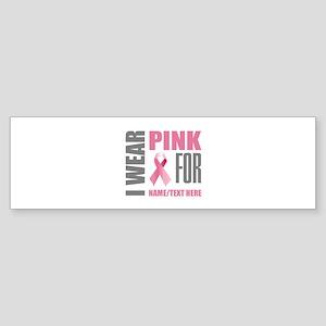 Pink Awareness Ribbon Customized Sticker (Bumper)