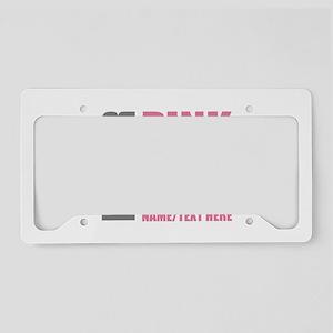 Pink Awareness Ribbon Customi License Plate Holder