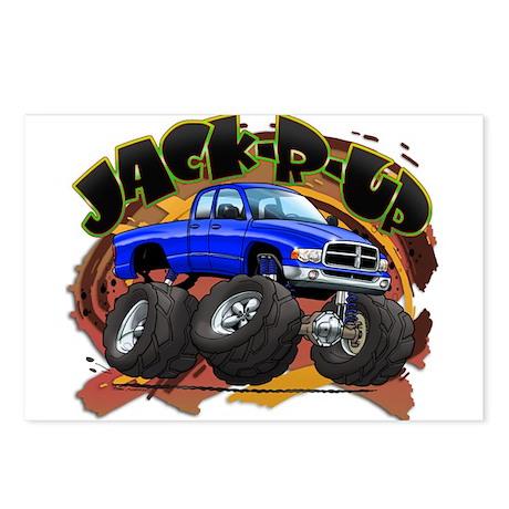Blue Jack-R-Up Ram Postcards (Package of 8)