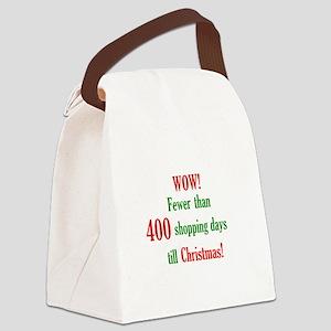 Xmas Shopping Canvas Lunch Bag