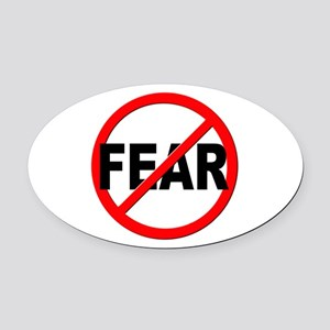 Anti / No Fear Oval Car Magnet