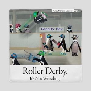 Roller Derby - Its Not Wrestling Queen Duvet