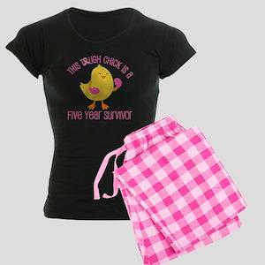 Breast Cancer 5 Year Survivor Chick Women's Dark P