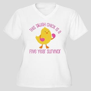 Breast Cancer 5 Year Survivor Chick Women's Plus S