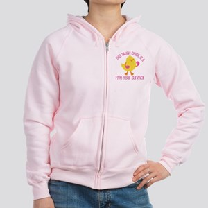 Breast Cancer 5 Year Survivor Chick Women's Zip Ho
