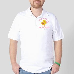 Breast Cancer 5 Year Survivor Chick Golf Shirt