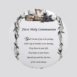 First Holy Communion Ornament (Round)