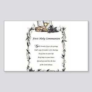 First Holy Communion Sticker (Rectangle)