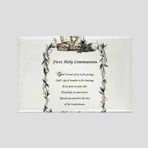 First Holy Communion Rectangle Magnet