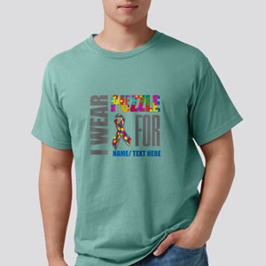Autism Awareness Ribbon Mens Comfort Colors Shirt