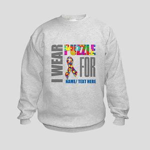 Autism Awareness Ribbon Customized Kids Sweatshirt