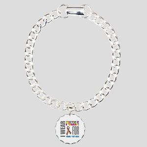 Autism Awareness Ribbon Charm Bracelet, One Charm