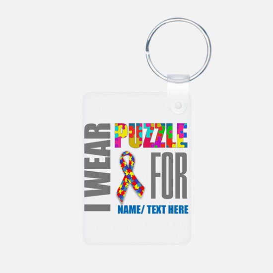 Autism Awareness Ribbon Cu Keychains