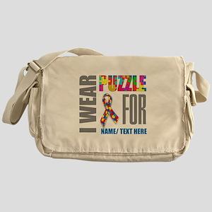 Autism Awareness Ribbon Customized Messenger Bag