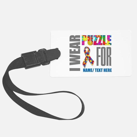 Autism Awareness Ribbon Customiz Luggage Tag