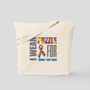 Autism Awareness Ribbon Customized Tote Bag
