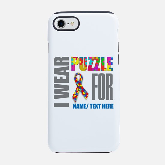 Autism Awareness Ribbon Custom iPhone 7 Tough Case