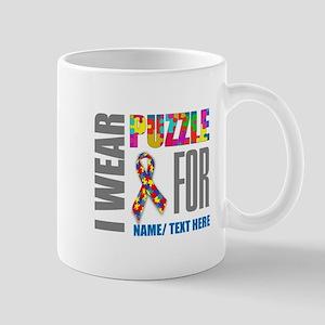 Autism Awareness Ribbon Customiz 11 oz Ceramic Mug