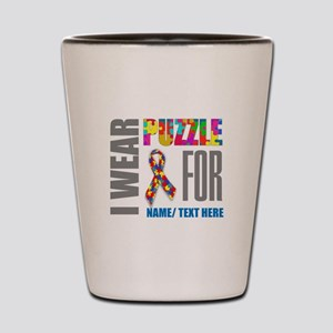 Autism Awareness Ribbon Customized Shot Glass