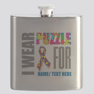 Autism Awareness Ribbon Customized Flask
