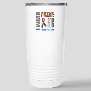 Autism Awareness 16 oz Stainless Steel Travel Mug