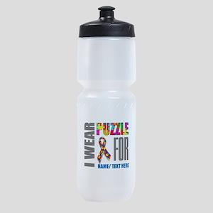 Autism Awareness Ribbon Customized Sports Bottle