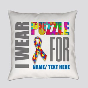 Autism Awareness Ribbon Customized Everyday Pillow