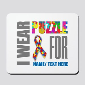 Autism Awareness Ribbon Customized Mousepad