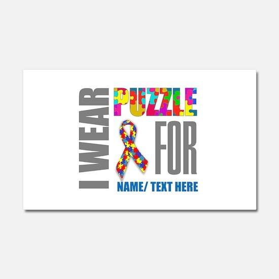 Autism Awareness Ribbon Customi Car Magnet 20 x 12