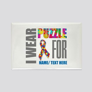 Autism Awareness Ribbon Customize Rectangle Magnet