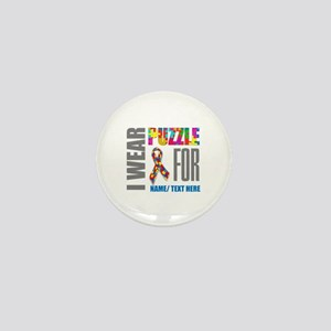 Autism Awareness Ribbon Customized Mini Button