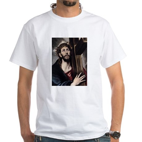 Christ carrying the Cross White T-Shirt