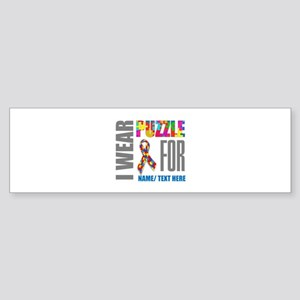 Autism Awareness Ribbon Customize Sticker (Bumper)