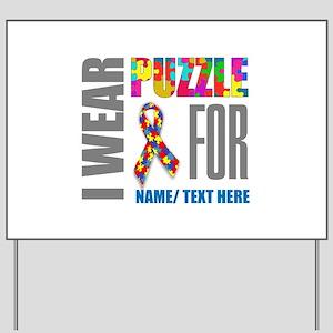 Autism Awareness Ribbon Customized Yard Sign