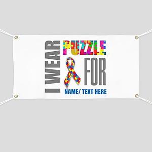 Autism Awareness Ribbon Customized Banner