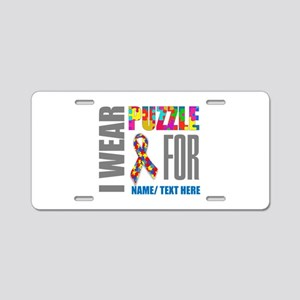 Autism Awareness Ribbon Cus Aluminum License Plate