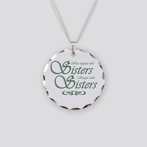 sisters10x10 Necklace Circle Charm