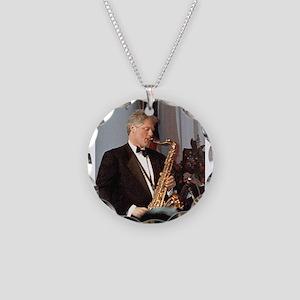 Bill Clinton Necklace Circle Charm