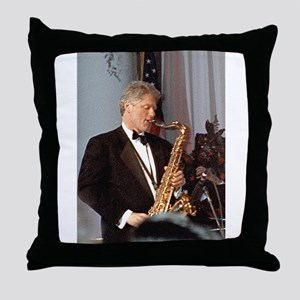 Bill Clinton Throw Pillow