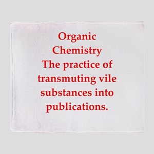 chemistry joke Throw Blanket