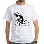 Kokopelli Road Cyclist White T-Shirt