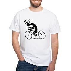 Kokopelli Road Cyclist White T-Shirt