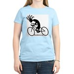Kokopelli Road Cyclist Women's Pink T-Shirt
