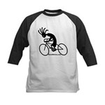 Kokopelli Road Cyclist Kids Baseball Jersey